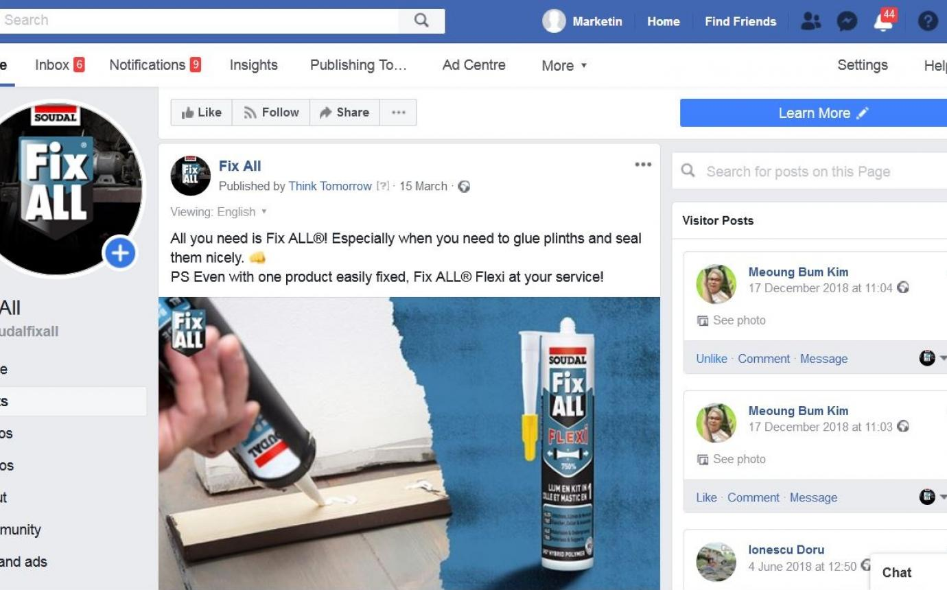 Soudal Fix ALL on Facebook